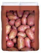 Red Potatoes Duvet Cover