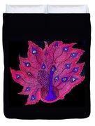 Red - Purple Peacock Duvet Cover