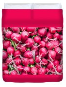 Red Radishes  Duvet Cover