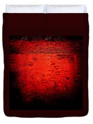 Red Rain Duvet Cover by Dave Bowman