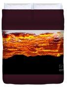 Red Rays Duvet Cover