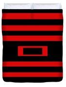 Red Rectangle Duvet Cover