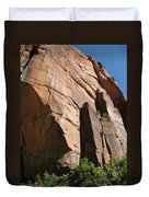 Red Red Rock Duvet Cover