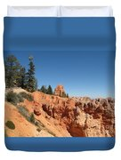 Red Red Rocks Duvet Cover