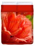 Red Rhodo Duvet Cover