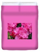 Red Rhododendrons Duvet Cover