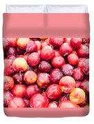 Red Ripe Plums Duvet Cover