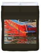 Red Rippling Duvet Cover