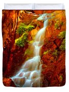 Red River Falls  Duvet Cover