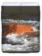Red Rock And Water Splash Duvet Cover