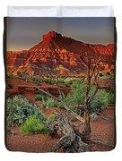Red Rock Butte And Juniper Snag Paria Canyon Utah Duvet Cover