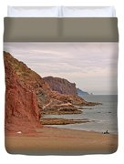 Red Rock By Sea Of Cortez From San Carlos-sonora Duvet Cover