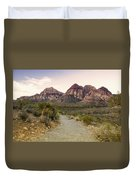 Red Rock Canyon Trailhead Duvet Cover