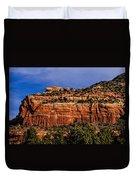 Red Rock Crag Duvet Cover