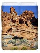 Red Rock Land Duvet Cover