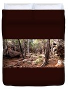 Red Rock Pine Forest Duvet Cover
