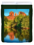 Red Rock Reflection Duvet Cover