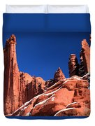 Red Rock Towers Duvet Cover