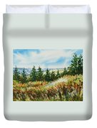 Red Rock View Road Duvet Cover