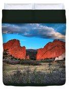 Red Rocks At Sunrise Duvet Cover