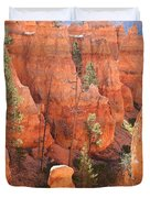 Red Rocks - Bryce Canyon Duvet Cover