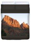 Red Rocks Of Zion Park Duvet Cover