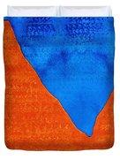Red Rocks Original Painting Duvet Cover