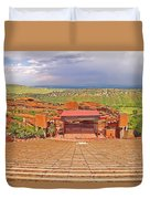 Red Rocks Park Amphitheater - Centered View Duvet Cover