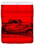 Red Rod Duvet Cover