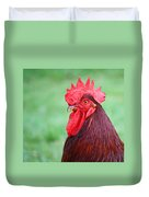 Red Rooster Portrait Duvet Cover