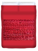 Red Rope Stack Duvet Cover