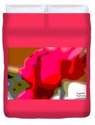 Red Rose Abstract Duvet Cover