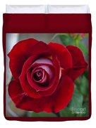 Red Rose Flower Duvet Cover