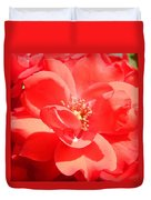 Red Rose In Full Bloom Duvet Cover