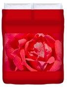 Red Rose Macro Duvet Cover