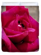 Red Rose Up Close Duvet Cover