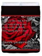 Red Rose Valentine Duvet Cover