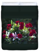Red Roses Say I Love You Duvet Cover
