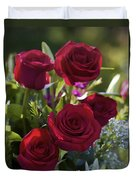 Red Roses The Language Of Love Duvet Cover