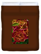 Red Roses With Soft Glow Duvet Cover