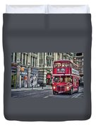 Red Routemaster Duvet Cover