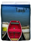 Red Rowboat Duvet Cover