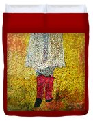 Red Rubber Boots Duvet Cover