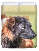 Red-ruffed Lemur Duvet Cover