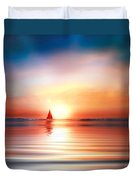 Red Sails Duvet Cover