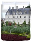 Red Salad And Cabbage Garden - Chateau Villandry Duvet Cover