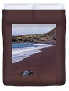 Red Sand Beach Duvet Cover