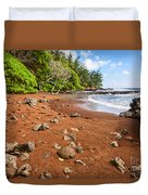 Red Sand Seclusion - The Exotic And Stunning Red Sand Beach On Maui Duvet Cover