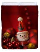 Red Santa Duvet Cover