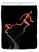 Red Shift A Science Sculpture By Adam Long Duvet Cover by Adam Long